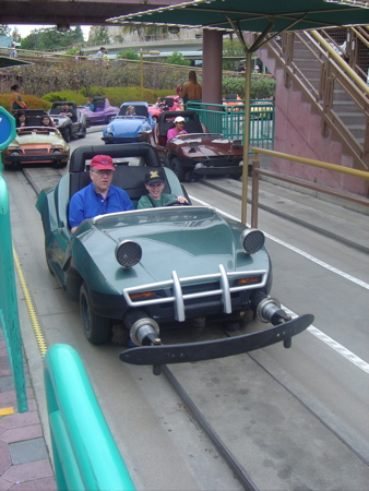 Autopia Car - With My Brother in it!