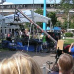 I love the crane contraption that WCCO brings to the fair - it takes great crowd shots.