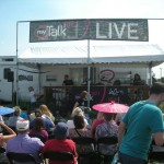 MyTalk 107.1's DJs are living in that trailer together for the fair. Their show was quite popular.