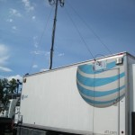 AT&T brought this truck to boost cell signals. I saw another (unmarked) truck elsewhere at the fair.