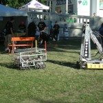 The first day of the fair featured a high school robotics exhibit.