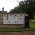 By the Gustavus sign