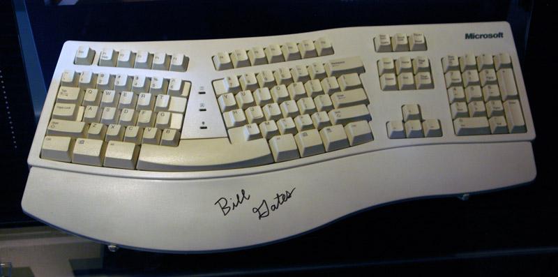 Bill Gates Microsoft Natural Keyboard