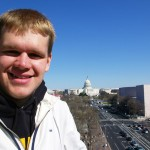 Tom at the Newseum